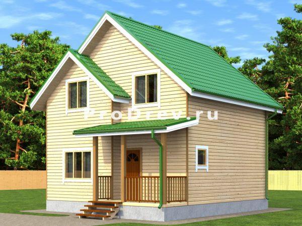 Дом из бруса 7х8 (ДБ-221)
