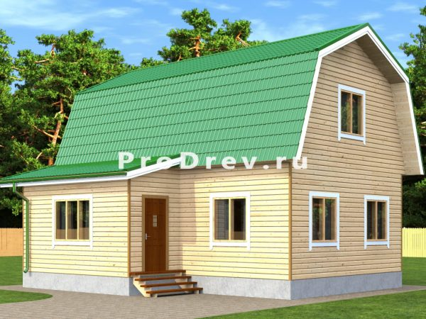 Дом из бруса 8х9 (ДБ-229)