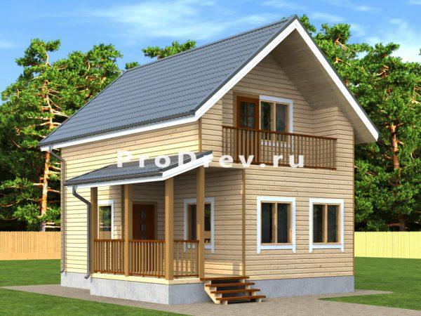 Каркасный дом 7х8 (КД-100)