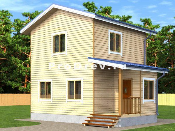 Дом из бруса 6х8 (ДБ-235)