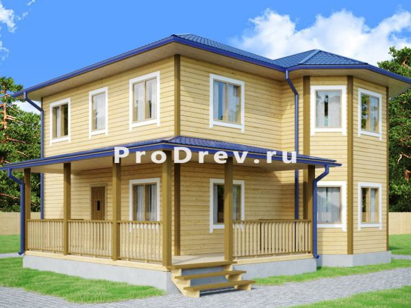 Дом из бруса 8х9 (ДБ-100)