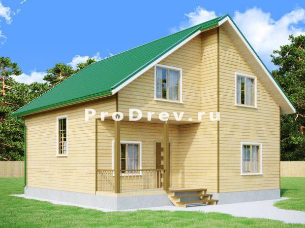 Дом из бруса 9х10 (ДБ-105)