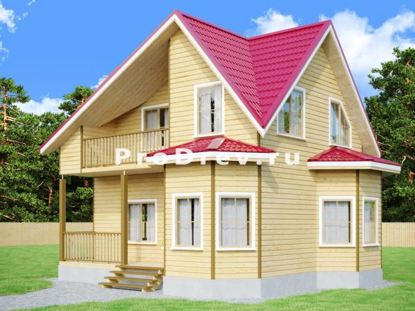 Дом из бруса 6х8 (ДБ-106)