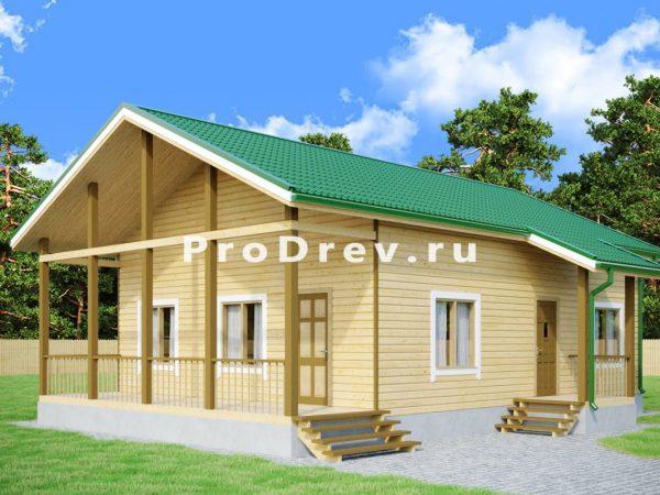 Дом из бруса 8х10 (ДБ-109)