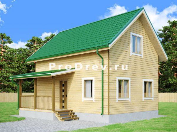 Дом из бруса 6х8 (ДБ-113)
