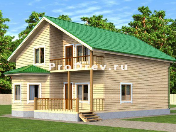 Дом из бруса 9х12 (ДБ-11)
