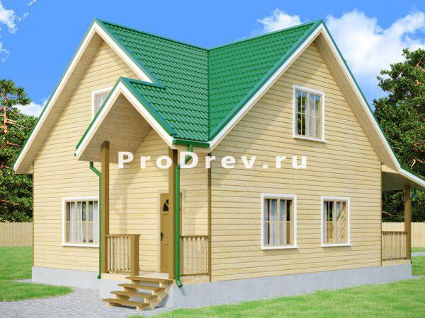 Дом из бруса 8х8 (ДБ-125)