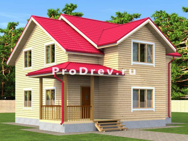 Дом из бруса 10х10 (ДБ-12)