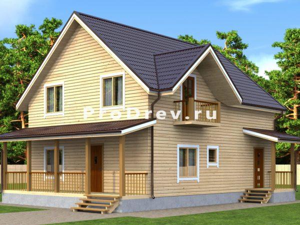 Дом из бруса 8х10 (ДБ-131)