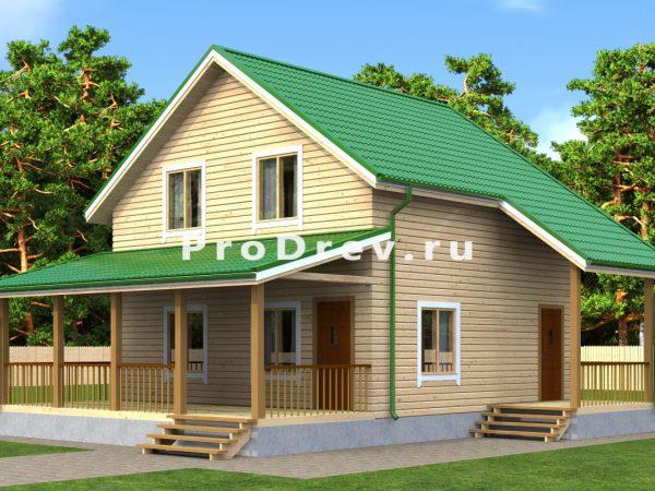 Дом из бруса 7х10 (ДБ-132)