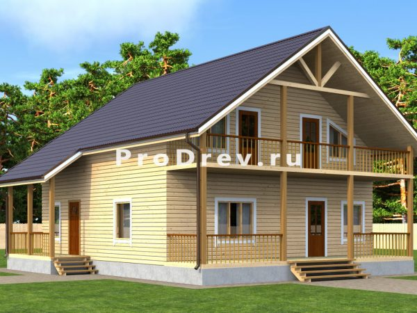 Дом из бруса 10х11 (ДБ-138)