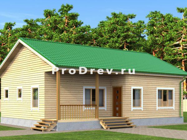 Дом из бруса 8х12 (ДБ-139)
