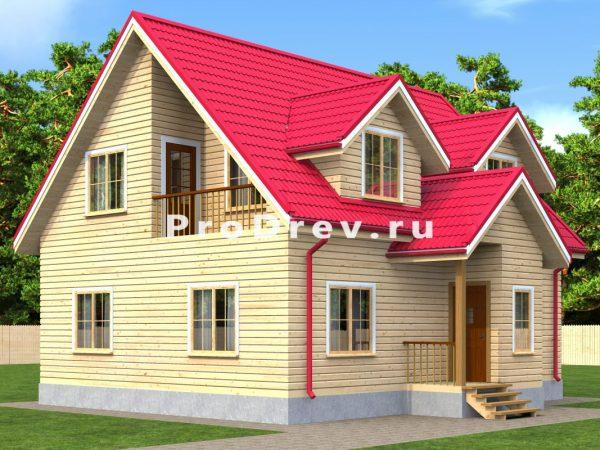 Дом из бруса 8х10 (ДБ-145)
