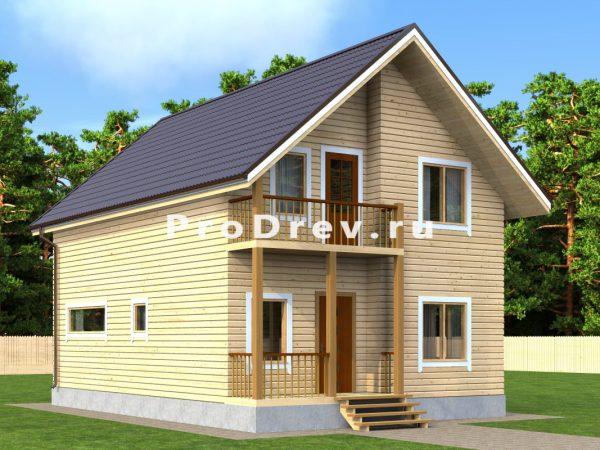 Дом из бруса 7х10 (ДБ-146)