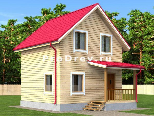 Дом из бруса 6х6 (ДБ-147)