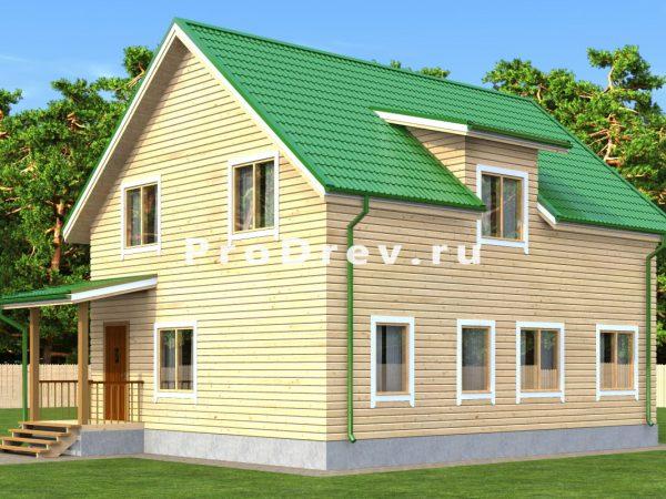 Каркасный дом 8х10 (КД-73)