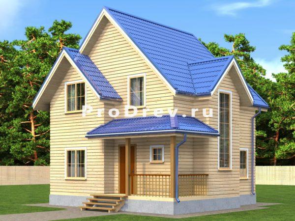 Дом из бруса 7х8 (ДБ-149)