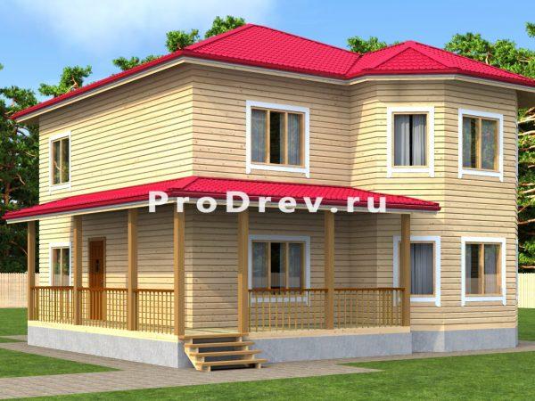 Дом из бруса 11х11 (ДБ-14)