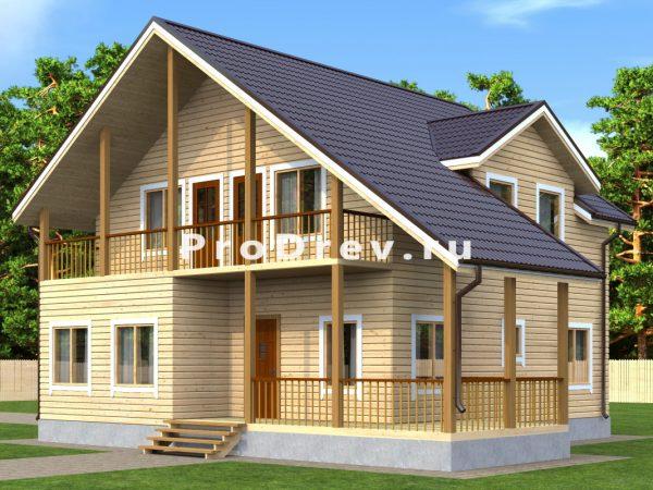 Дом из бруса 9х10 (ДБ-150)