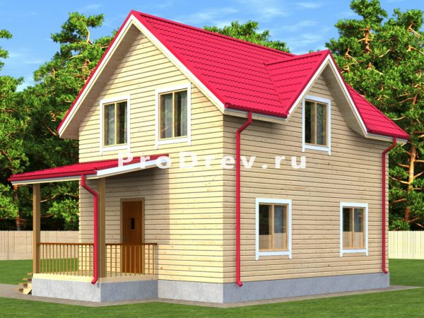 Дом из бруса 6х8 (ДБ-151)