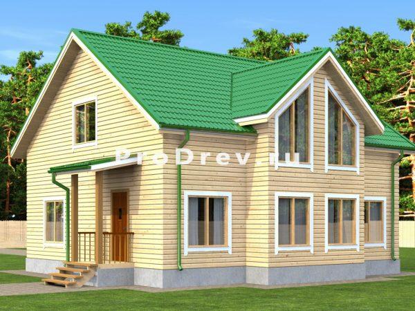 Дом из бруса 10х10 (ДБ-154)