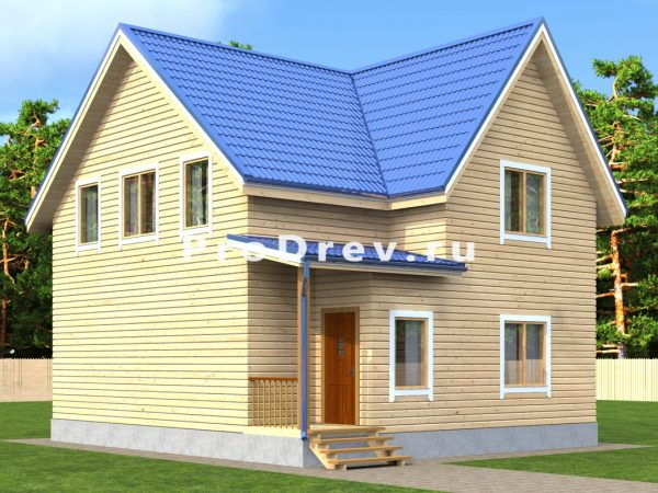 Дом из бруса 8х9 (ДБ-155)
