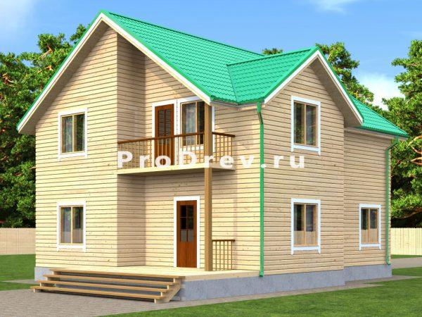 Дом из бруса 9х10 (ДБ-157)
