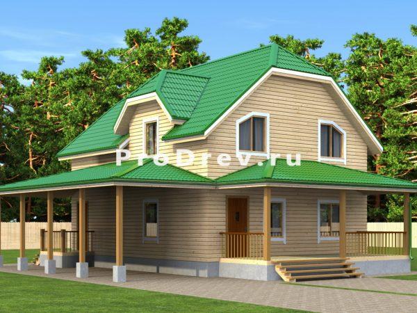 Дом из бруса 8х10 (ДБ-161)