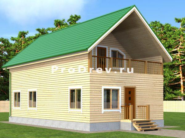 Дом из бруса 6х12 (ДБ-165)