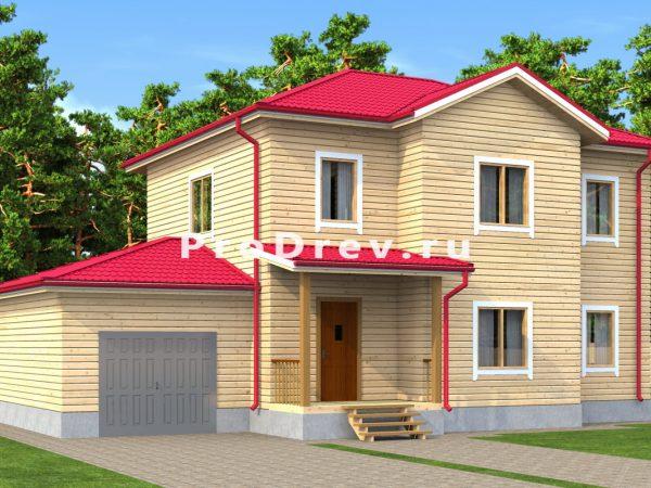 Дом из бруса 8х14 (ДБ-167)