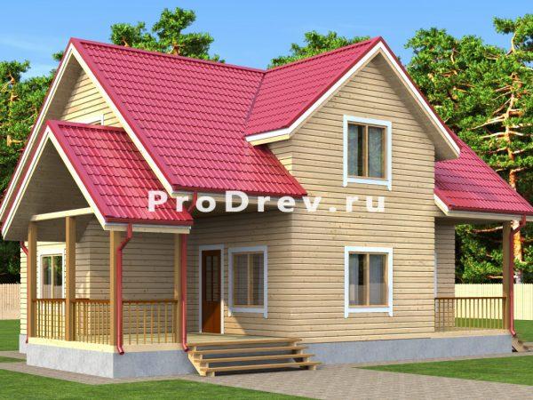 Дом из бруса 8х10 (ДБ-169)