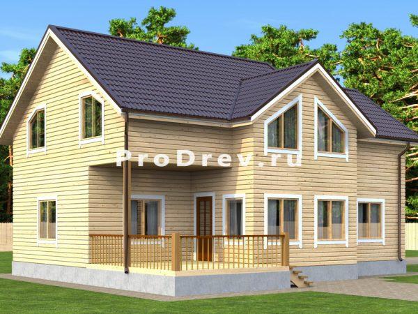 Дом из бруса 10х12 (ДБ-172)
