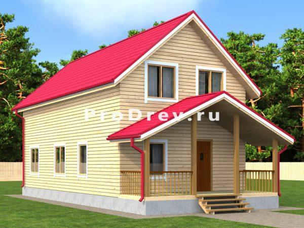 Дом из бруса 6х12 (ДБ-174)