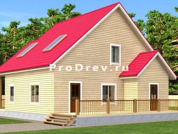 Дом из бруса 10х11 (ДБ-177)