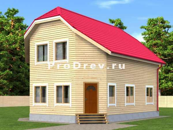 Дом из бруса 8х10 (ДБ-181)