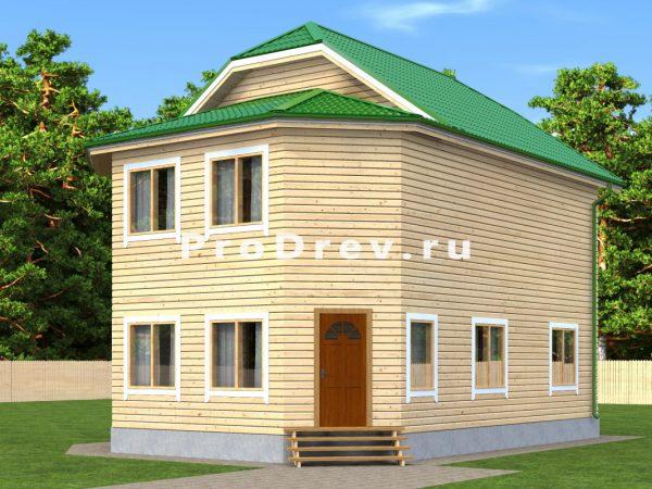 Дом из бруса 8х10 (ДБ-182)