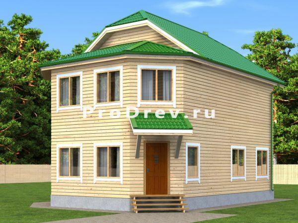 Дом из бруса 8х10 (ДБ-185)