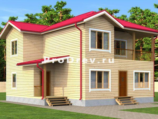 Дом из бруса 10х11 (ДБ-18)