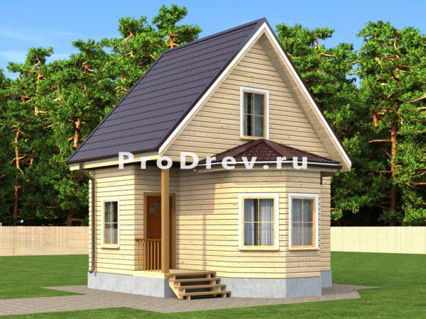 Каркасный дом 6х6 (КД-89)