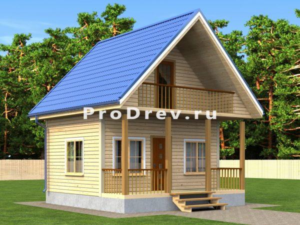 Дом из бруса 6х6 (ДБ-193)