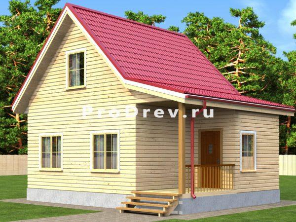 Дом из бруса 6х8 (ДБ-194)