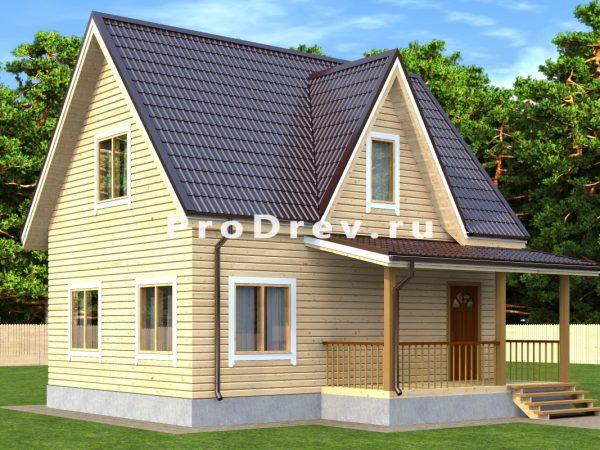 Дом из бруса 6х8 (ДБ-196)