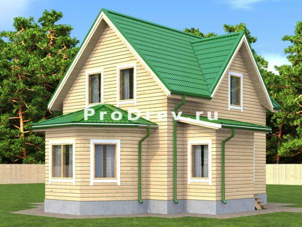 Дом из бруса 6х9 (ДБ-198)