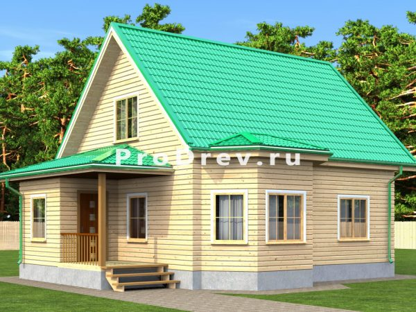 Дом из бруса 7х10 (ДБ-206)