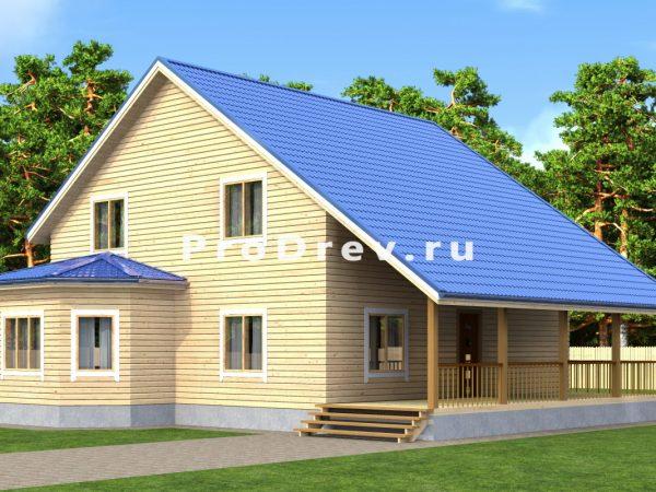 Дом из бруса 10х10 (ДБ-208)