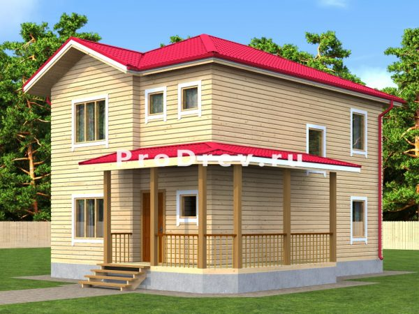 Дом из бруса 8х9 (ДБ-20)