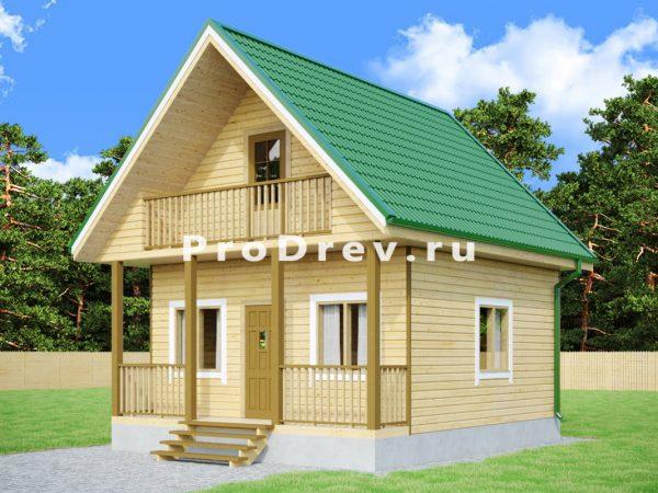 Дом из бруса 6х7 (ДБ-241)