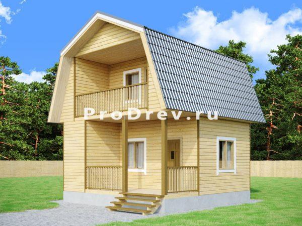 Дом из бруса 6х6 (ДБ-243)