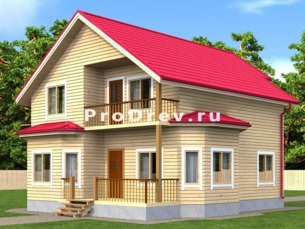 Дом из бруса 9х11 (ДБ-24)