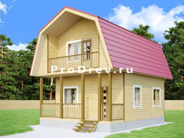 Дом из бруса 6х8 (ДБ-273)